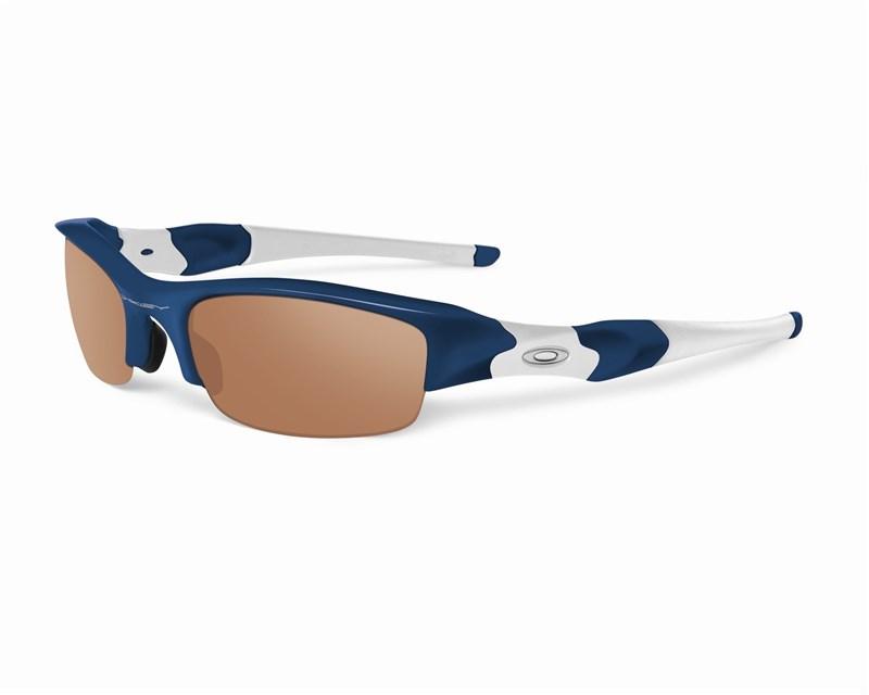 76b062e762 Oakley Flak Jacket XLJ Polished Navy Frame VR28 Lens Glasses £70.00