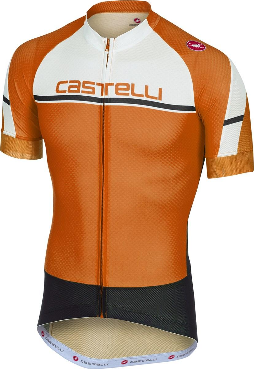 Castelli Distanza Short Sleeve Jersey FZ Orang £57.00 a5e67386f
